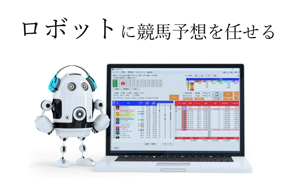 ロボットに競馬予想を任せる「単撃ロボ」